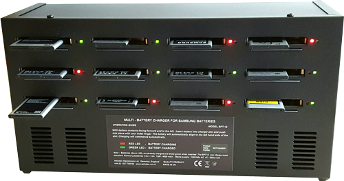 STP12 -  Professional Samsung Multi Battery Charger.  12 CHANNEL SAMSUNG MULTI TYPE BATTERY CHARGER.